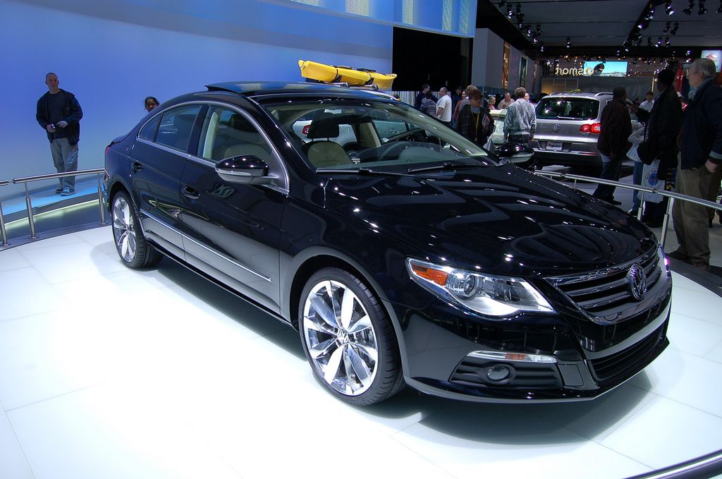 sleek black car image